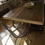 Make a dining table out of an old door