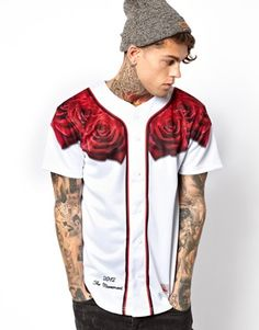 Image 1 of SikSilk Baseball Jersey with Rose