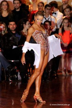 salsa bachata or latin dance dress - worn by Yulia Zagoruychenko