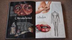 A Level Art Sketchbook, Sketchbook Layout, Sketchbook Inspiration, Sketchbook Ideas, Art Alevel, Drawing Journal, Art Studies, Art Portfolio, Art Pages