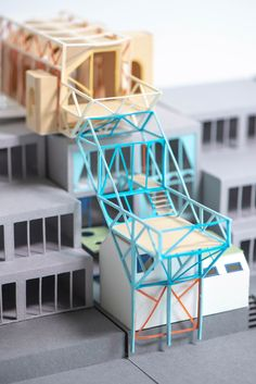 Michelle Ho proposes retrofitting housing estates to densify cities Architecture Collage, Chinese Architecture, Classical Architecture, Concept Architecture, Interior Architecture, Architecture Sketches, Parasitic Architecture, Structural Model, Arch Model