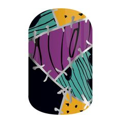 Rag Doll | Disney Collection by Jamberry | Volume 4 | The Nightmare Before Christmas | Bright colors are pieced together to create an illusion of organized chaos.
