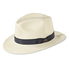 Classic Panama Fedora --As authentic as they come. Our Panama hat is constructed from plaited leaves of the toquilla straw plant, woven by hand in Ecuador, and blocked and finished in Fall River, MA.