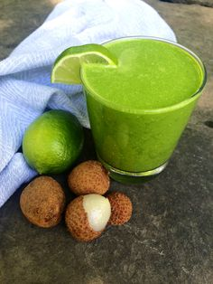 Lychee Lime and Ginger Smoothie. Sweet, spicy and zesty. It has it all.