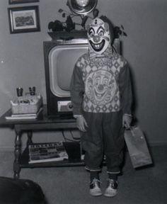 Vintage Halloween clown costume.