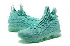 d7ec07a538bf 2018 New Nike LeBron XV EP 15 Mens Basketball Shoes Mint Green