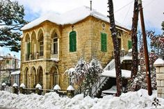 Mount Lebanon, Modern Architecture Design, Stone Houses, Old Buildings, Beirut, Traditional House, Old Houses, Beautiful Homes, House Plans