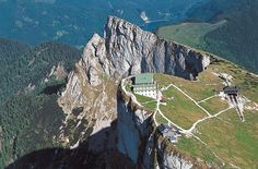 Schafberg, Austria, just above St. Wolfgang. Just breathtaking views. The train ride up is awesome.