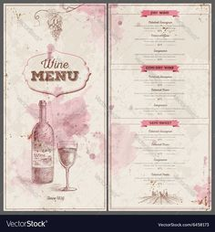 Vintage wine menu design. Document template. Download a Free Preview or High Quality Adobe Illustrator Ai, EPS, PDF and High Resolution JPEG versions.
