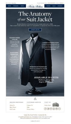 #newsletter Brooks Brothers 08.2013 Subject: A Look Inside Our Suit Jacket