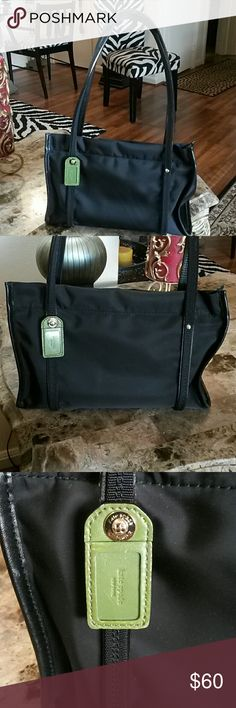 KATE SPADE CANVAS AND LEATHER TOTE KATE SPADE CANVAS AND LEATHER TOTE IN GREAT CONDITION DOES SHOW NORMAL WEAR, INSIDE VERY CLEAN,  TWO INSIDE POCKETS,  LEATHER STRAPS WITH KATE SPADE WRITTEN UNDER THE BOTTOM 11 iNCHES ACROSS AND 8 INCHES IN HEIGHT kate spade Bags Totes