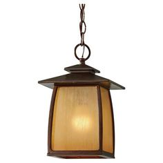 Wright House Sorrel Brown One Light Integrated LED Outdoor Pendant Murrayfeiss Outdoor Pen