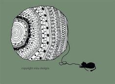 zentangly   giclee print