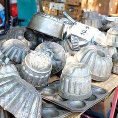 Antique baking tins at the flea markets in #Geneva