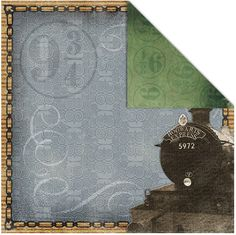 £0.85 Hogwarts Express Double Sided scrapbook paper www.scrappingthemagic.co.uk