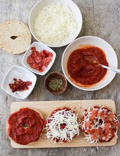 Pizza bagels--for grown ups!