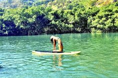 Yoga In Brazil Ustrasana on the Guaratiba Bay Sup-Strasana on the Guaratiba Bay, Rio de Janeiro Loved and pinned by www.downdogboutique.com