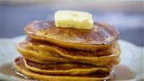 Anybody can add water to a boxed pancake mix, but you're better than that! These pancakes are not too thick, not too thin, but tender, light, buttery, and delicious.