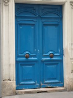 A collection of blue doors in Paris. #Doors #Blue #Paris #France