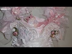Tresors de Luxe DT Project, Altered Shabby Chic Tussie Mussie (start-to-finish) - YouTube  A fabulous Tussie Mussie