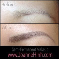 hairstroke permanent eyebrow fill in gaps before after - Yahoo Image Search Results