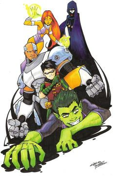 Teen Titans GO!, by Charles Holbert Jr I LOVE TEEN TITANS MORE THAN ANYTHING ON EARTH THANK YOU BYE