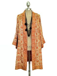 Pure Silk Kimono jacket / beach cover up beaded and by Bibiluxe, £85.00