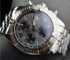Breitling Chronomat Evolution Watch SS 43MM Excellent REf # A13356  http://www.propertyroom.com/listing.aspx?l=9582999