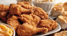 KFC chx and sides for picnic-style meal