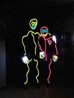 Halloween Adult Stick Figure Costume Stick Man Costume, Stick Figure Costume,  Glow Costume,
