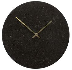 HÜBSCH nástěnné hodiny Black Marble Granite, The Cool Republic, Decoration, Black Gold, Furniture Design, Metal, Wall, Home Decor, Interiors