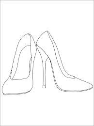 High Heel Shoe Template For Coloring In