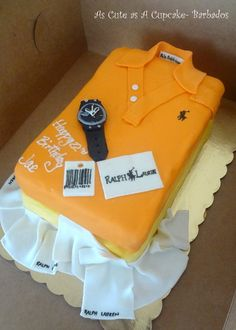 Folded Polo Shirts cake for clients boyfriend, flavor – chocolate fudge Cakes For Men, Cakes And More, Barbados, Birthday Cake With Flowers, Birthday Cakes, Bottle Cake, Shirt Cake, Cupcakes, Dessert Drinks