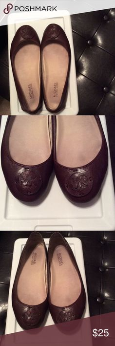 Leather, Wine colored Michael Kors Loafers Michael Kors loafers KORS Michael Kors Shoes Flats & Loafers