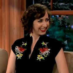 Our favorite funny gal, Kristen Schaal, looked great in the Maria Dress at a recent taping of The Late Late Show with Craig Ferguson! #trashydivamariadress
