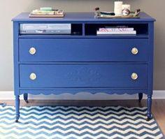 20 ideas para pintar muebles de madera antiguos a todo color 8