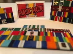 pin it card for military ribbons and medals