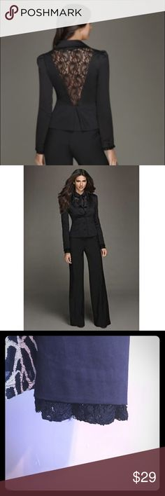 💅🏼Kardashian Kollection 'Lace Night Out' Blazer Masculine and feminine details converge in a chic lace back blazer design from the Kardashian Kollection. Button the modern blazer over a lace blouse or silky tee for a winning combination. Lace trim peeking out of sleeve Tuck detail at shoulder Front button closure Exposed lace back Fit: Tailored, Fully-lined Material: Cotton/Elastane Care: Dry clean Imported Kardashian Kollection Jackets & Coats Blazers