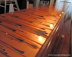 Here We Have A Newer, Lengthy Bar Top Project That Has Been Made With The  Stellar Copper Pattern. Often Used For Bar Tops, Stellar Copper Is A Great  Choice ...