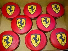 Creative Gifts For Photographers [It doesn't have to be costly] First Birthday Cupcakes, Themed Cupcakes, Birthday Party Themes, Boy Birthday, Ferrari Cake, Ferrari Party, Disney Cars Party, Race Car Party, Car Themes