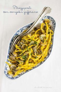 #Strozzapreti con #vongole e #zafferano #ricetta #recipes #recipe #italianrecipe