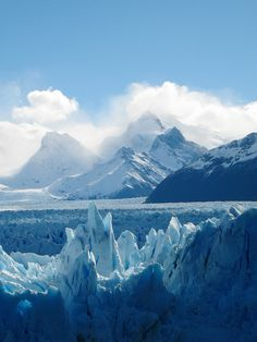 Blue mountains - blue skies - blue water - blue ice<------- percy would love this