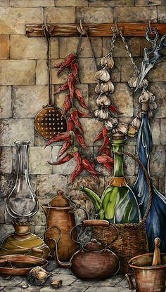 ru/Sova kitchen www. Decoupage Vintage, Vintage Diy, Vintage Labels, Vintage Paper, Pintura Tole, Images Victoriennes, Deco Originale, Still Life Art, Country Art
