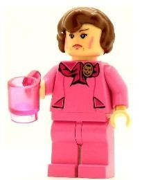 Harry Potter's Professor Dolores Umbridge Lego Minifigure. Great Lego piece.  #pink #lego #minifigures