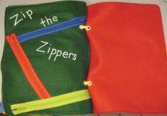 Zipper fun quiet book page