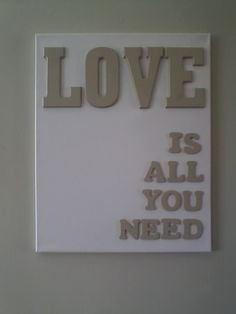 letras LOVE te apuntas? | Decorar tu casa es facilisimo.com canvas - walldecor - love
