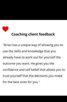 Super feedback, but coaching remains all about the client. Message me so we can talk about how coaching could help you. #coachingviaskype #coachingonline #coachingwithwords #kickingwithcompassion #liveyourpotential #whywait H Words, Going Through The Motions, Do You Feel, Decision Making, Trust Yourself, Coaching, Knowledge, Mindfulness, Relationship