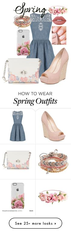 """""""Outfit #185"""" by ivoryroses on Polyvore featuring Oasis, Candie's, Jessica Simpson, Lime Crime and Aéropostale"""