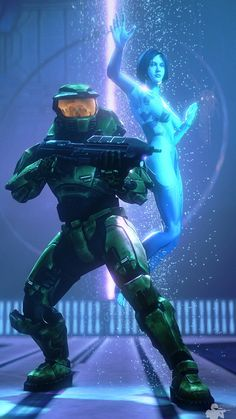 Two Betrayals by on DeviantArt Master Chief And Cortana, Halo Master Chief, Halo Poster, Cortana Halo, Halo 6, Halo Mega Bloks, Halo Spartan, Halo Series, Halo Game