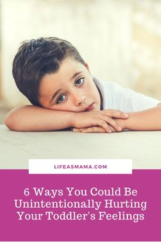 Parenting a toddler is hard work and probably one of the toughest stages of their development. And while they're becoming more vocal and sassy at times, here are some tips to avoid unintentionally hurting their feelings. #lifeasmama #toddlers #parenting Parenting Toddlers, Parenting Humor, Parenting Advice, Positive Parenting Solutions, Mindful Parenting, Toddler Learning, Toddler Preschool, Mindfulness For Kids, Toddler Development